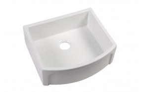 ceramic kitchen sink Devon, 60x53 cm, white