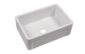 ceramic kitchen sink Yorkshire, 75x47 cm, white, reversible