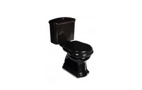 must RETRO wc-kompakt, allajooks, kuldne loputusnupp (101204 + 108104 + 750991)