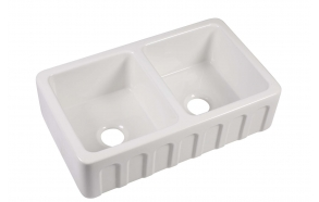 ceramic kitchen sink Surrey, 103x47 cm, white