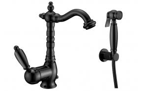 basin mixer with bidet spray New Old, mat black