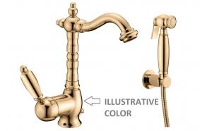 basin mixer with bidet spray New Old, bronzed