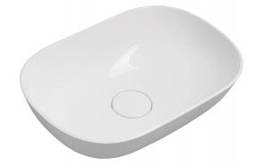 ERIDAN Cultured Marble Washbasin 50x35cm, white