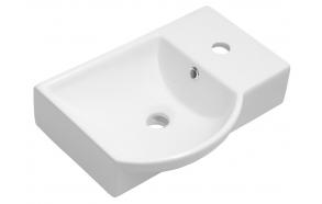 keraamiline valamu Litos parem, 45x32 cm, valge