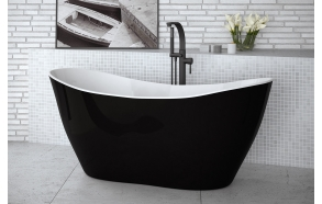 cast stone bath Vilya black and white