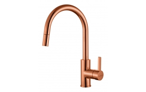kitchen mixer Tesla with pull-out spray, copper