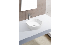 SOFIA ceramic washbasin, 44x44x13.5 cm, top counter