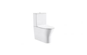 rimless wc kompakt Sidney, universaalne trapp, 2-süsteemne, komplektis soft close iste (osad: 1,2)
