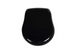Kerasan Retro black soft close seat cover, golden hinges
