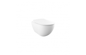 rimfree wall hung toilet Free,mat white, without seat