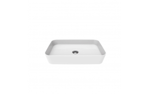 worktop washbasin Loop 40x60 cm white