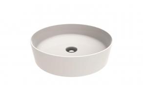 round worktop washbasin Loop 45x45 cm white