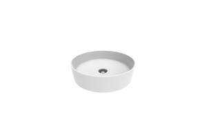 round worktop washbasin Loop 45x45 cm white