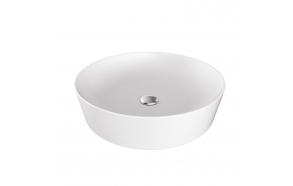 round worktop washbasin Ultra 40x40 cm white