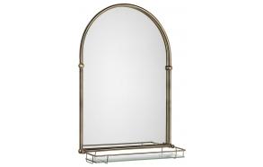 TIGA Mirror 48x67cm, Glass Shelf, bronze