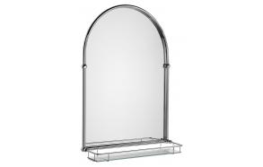 riiuliga peegel Tiga 48x67 cm, kroom viimistlus