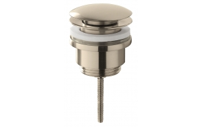 Cadans click-clack valve with overflow, brushed steel, 1 1/4´´