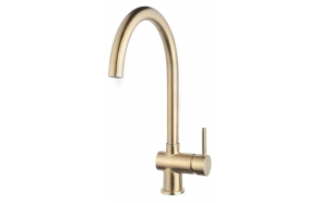 kitchen mixer Caral, brushed brass, PVD