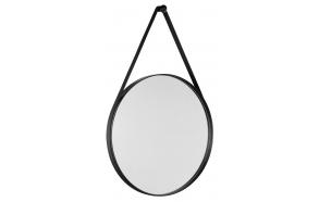 ORBITER round mirror with strap, ø 70cm, matt black