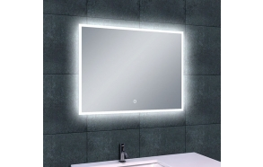 Rectangular LED mirror Quatro 800x600, antifog