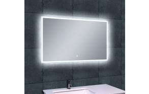 Rectangular LED mirror Quatro 1000x600, antifog