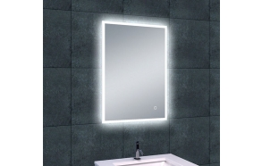 Rectangular LED mirror Quatro 700x500, antifog