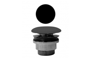 "outlet ""click-clack"" for basin without overflow,black, 1 1/4´´"
