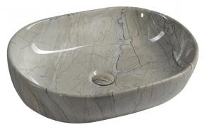 DALMA ceramic washbasin 59x42x14 cm, grigio