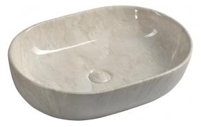 DALMA ceramic washbasin 59x42x14 cm, marfil