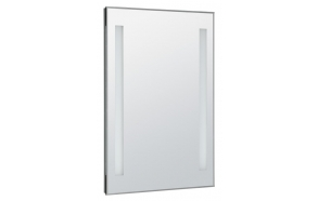 LED backlit mirror 50x70cm, button switch