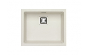 SINK ALVEUS QUADRIX 50 Arctic G11 P-U, with stainless steel color fitings (1128394 + 1133398)