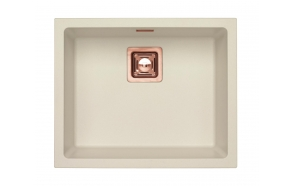 SINK ALVEUS QUADRIX 50 Arctic G11 P-U, with copper color fitings ( 1128394 + 1127155 + 1105242 + 1113996)