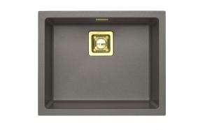SINK ALVEUS QUADRIX 50 Steel G04M P-U, with gold color fitings  ( 1108037 + 1127152 + 1103421 + 1110854)