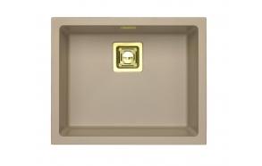 kivimassist köögivalamu Alveus Quadrix 50, pebble G02M, kuldsed fitingud ( 1108035 + 1127152 + 1103421 + 1110854)