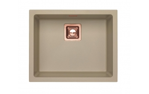 SINK ALVEUS QUADRIX 50 Pebble G02M P-U, with copper color fitings ( 1108035 + 1127155 + 1105242 + 1113996)