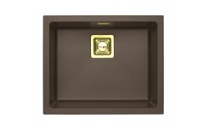 kivimassist köögivalamu Alveus Quadrix 50, chocolate G03M, kuldsed fitingud ( 1108036 + 1127152 + 1103421 + 1110854)