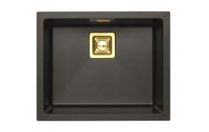 SINK ALVEUS QUADRIX 50 Twilight G05M P-U, with bronzed color fitings ( 1108038 + 1127154 + 1103611 + 1110855)