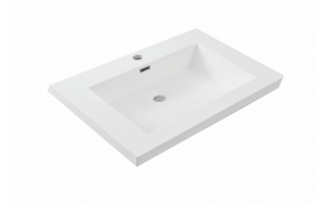 cultured marble furniture basin Vision 60x46 cm, white