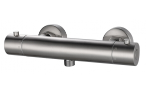 Rio Therm. Shower mixer tap 15 cm brushed steel