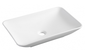 Karé surface-mounted washbasin 580x360x115mm matte-white