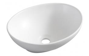 Barco surface-mounted washbasin 400x330x145 matt-white