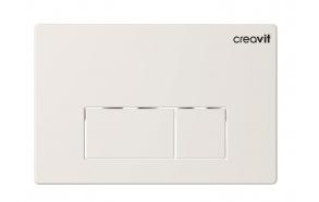 CREAVIT ARC seinasisese raami loputusnupp, valge