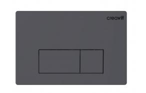 Creavit Arc flush plate, basalt