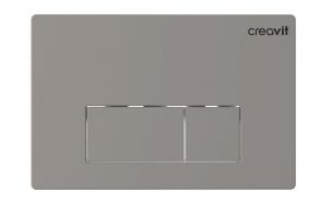 Creavit Arc flush plate, mat chrome