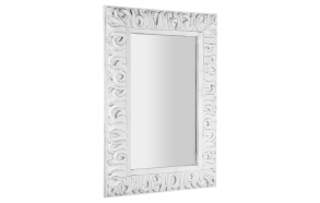 ZEEGRAS mirror with frame, 70x100cm, whitewashed