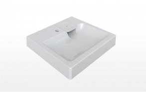 basin to mount on top of washing machine Clara Mini 60x50 cm,white ,brackets, and soap dish included