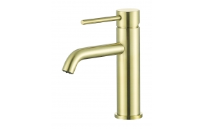 basin mixer Cherry, brushed gold