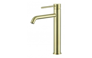 high basin mixer Cherry, brushed gold