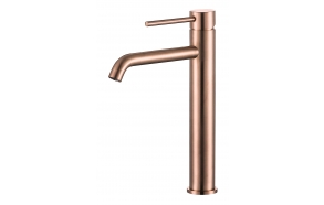 high basin mixer Cherry, brushed rose gold