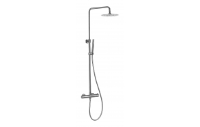 rain shower set with thermostatic mixer Cherry, brushed steel